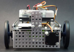 "Fusion Robot Optical Distance Sensor mounted for SUMO and ""Line Edge Following""."